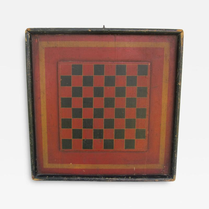 19th Century Wood Double Sided Game Board