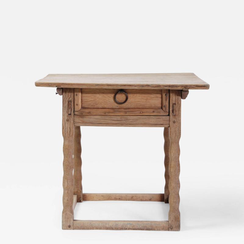 19th century Swedish Oak Side Table