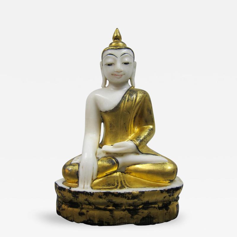 19th to 20th Century Burmese Alabaster Buddha