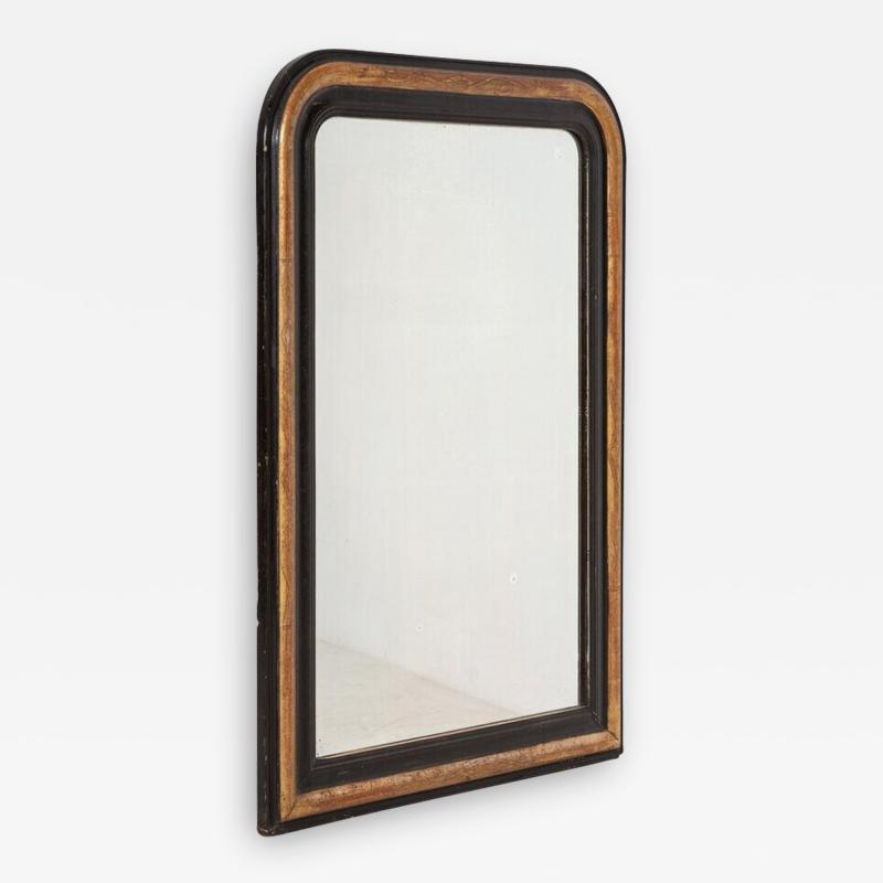 19thC Large French Gilded Ebonised Napoleon III Mirror