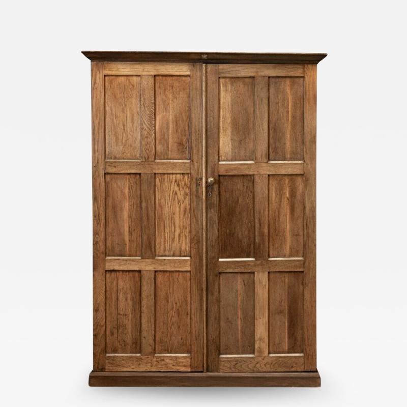 19thC Oak Panelled Cupboard