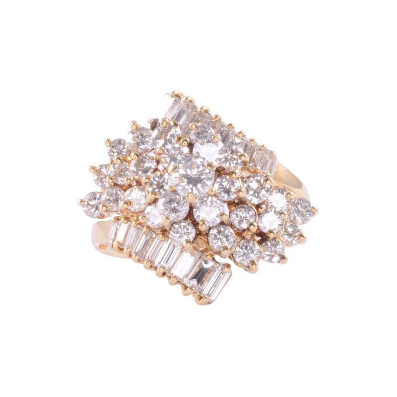 2 50 CTW VVS1 VS1 Diamond Cluster Ring