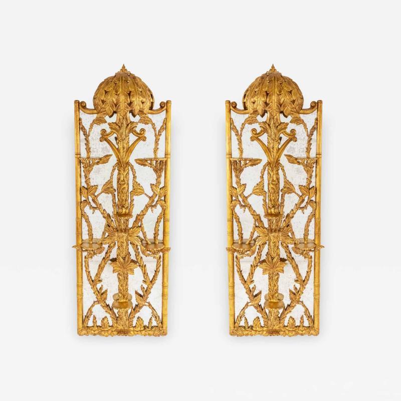 2 Hollywood Regency Gilt Carved Mirrors
