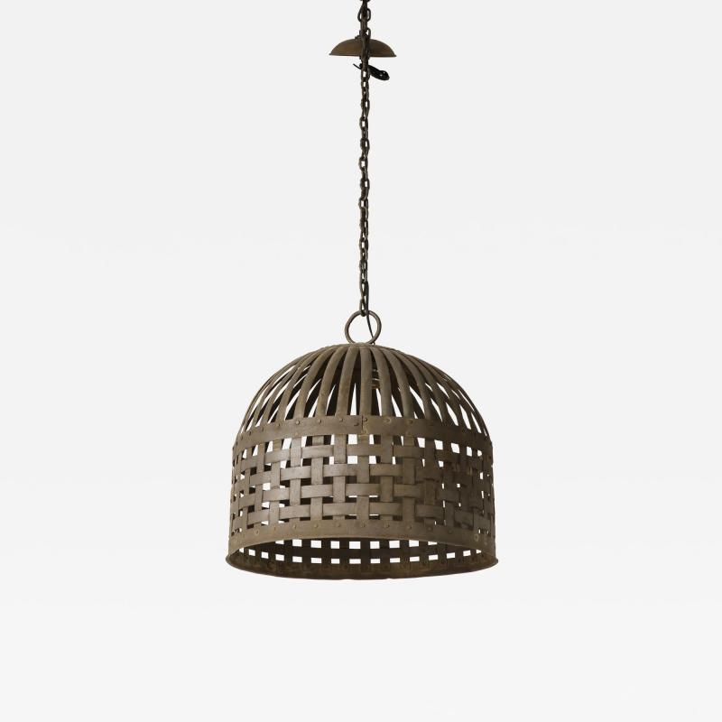 20th Century Iron Cage Chandelier Lucca and Co