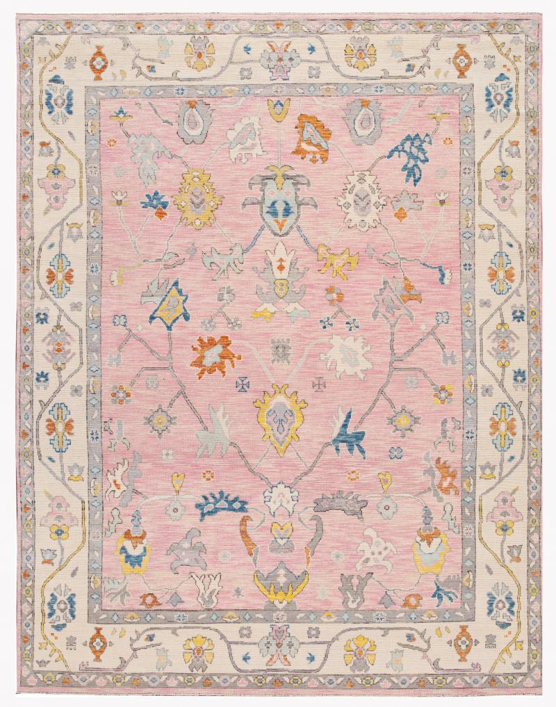 21st Century Contemporary Modern Oushak Style Wool Rug