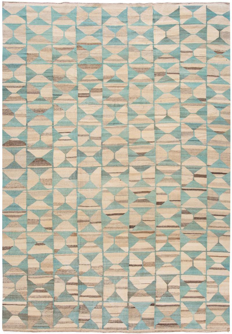 21st Century Modern Flatweave Kilim Style Wool Rug 9 x 14