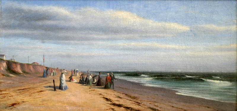 Francis Augustus Silva Strolling Along the Bluff at Long Branch c 1870