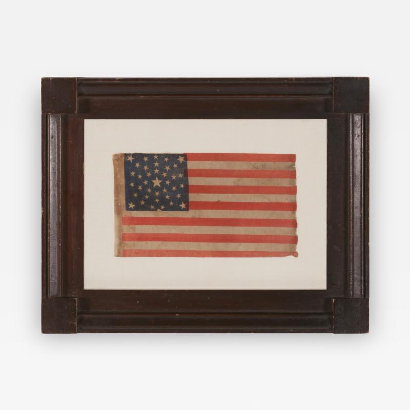 38 Stars in a Summer Sky Medallion Antique American Flag Colorado Statehood