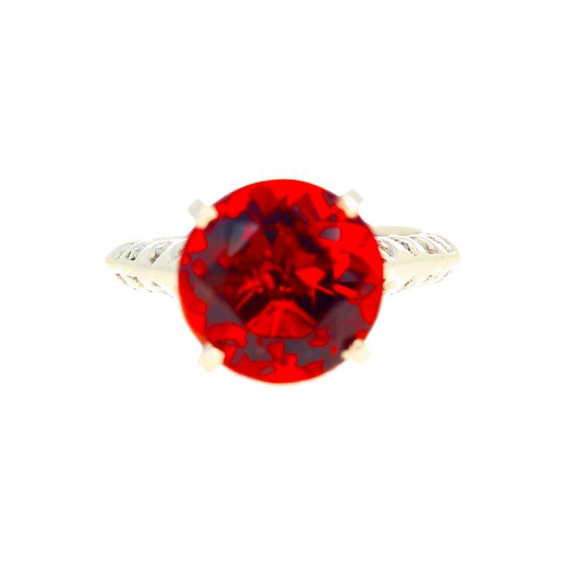 4 75 Carat Rio Grande Citrine and Diamond Gold Ring