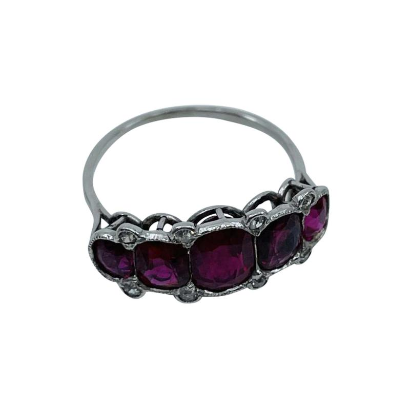 5 Stone Ruby Ring