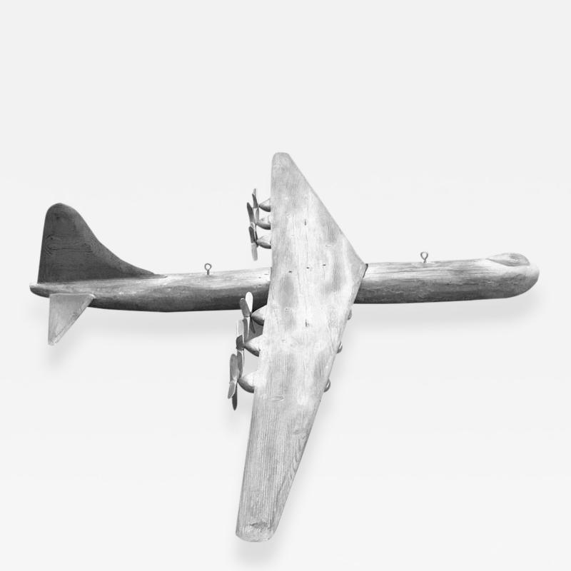 8 Hand Carved B 36 Peacemaker World War 2 Folk Art Airplane