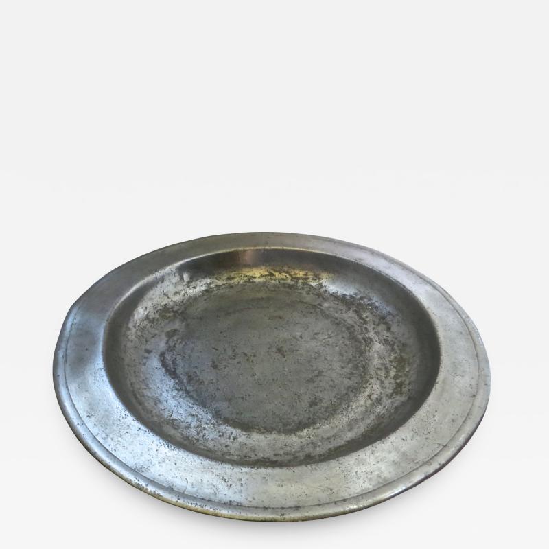 8th Century English Pewter Sadware Dish