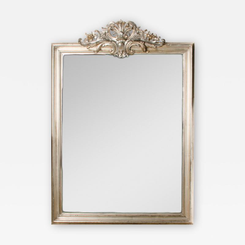 A 19th Century French silver gilt mirror