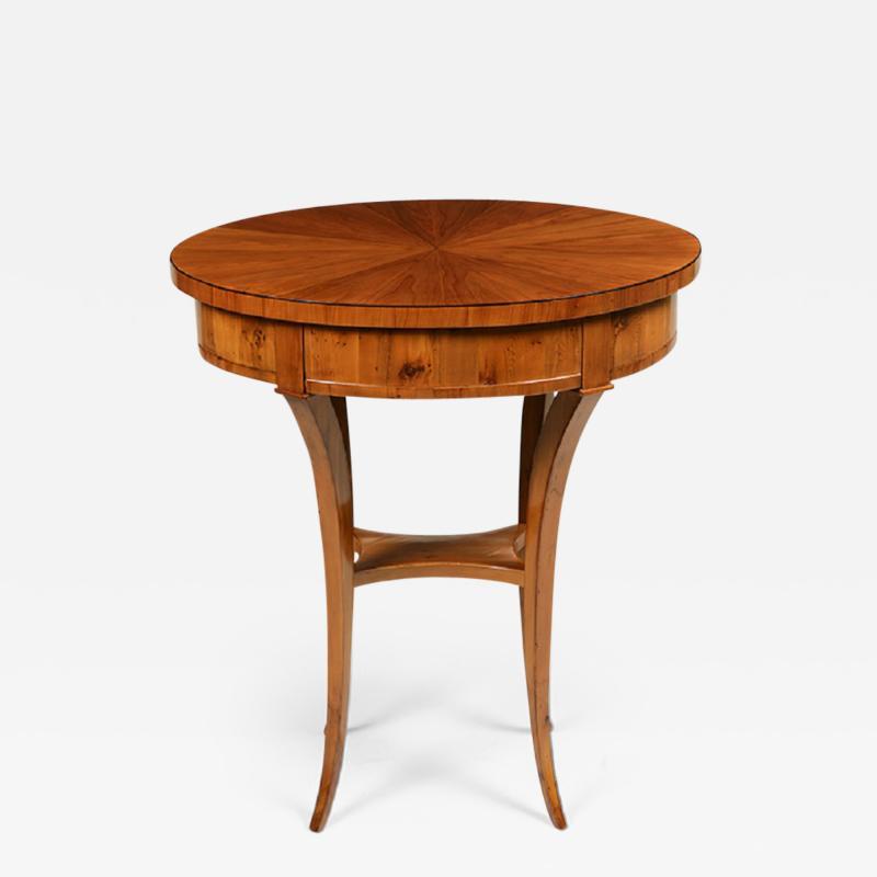 A Biedermeier Single Drawer Occasional Table