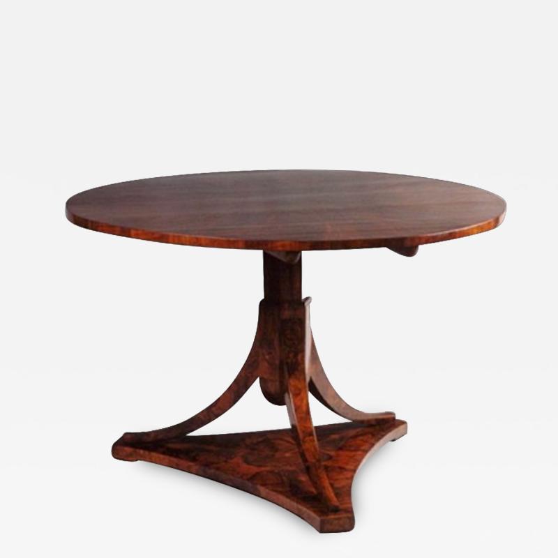 A Biedermeier Tilt Top Pedestal Table