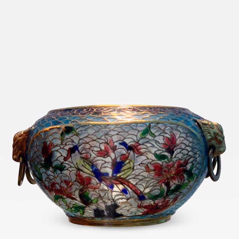 A Chinese Plique a jour Archaic style bowl
