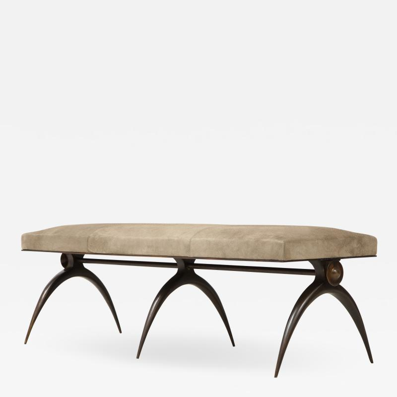 A Contemporary Banquette designed by Marie Guerin Solid Bronze