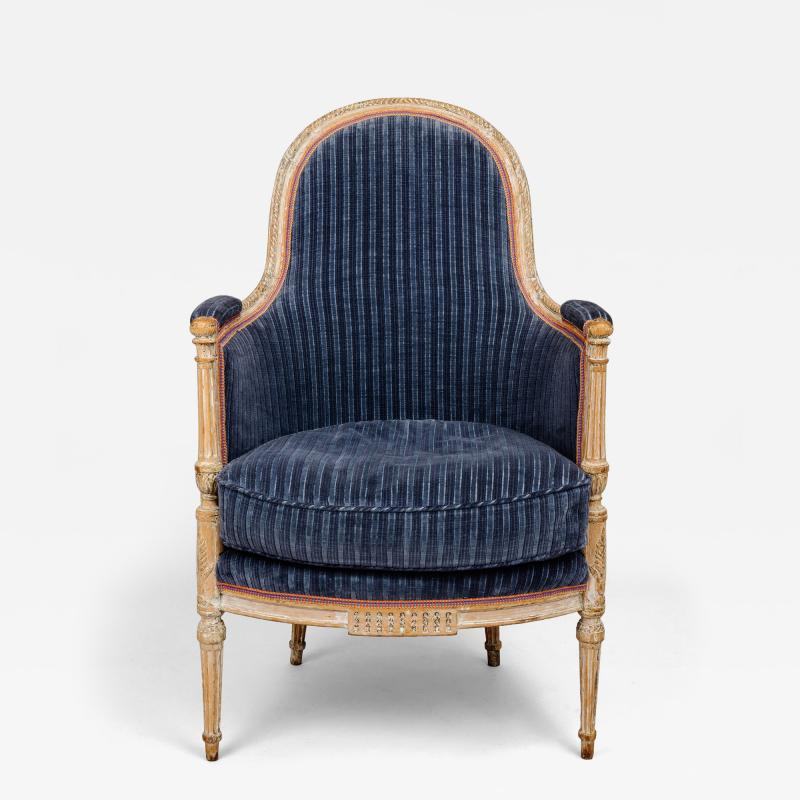 A Directoire Painted and Carved Bergere