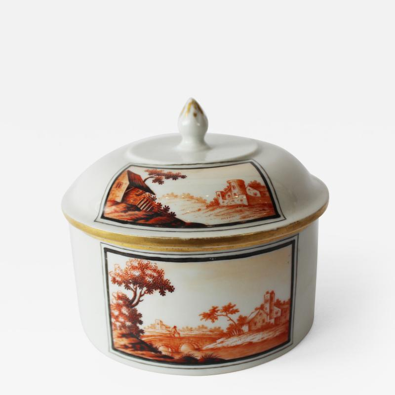 A Fine 18th Century Hand Painted Thuringian Box and Cover
