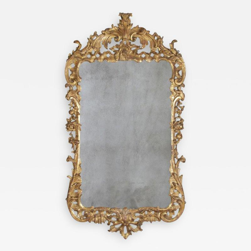 A Fine George II Carved Gilt Wood Mirror