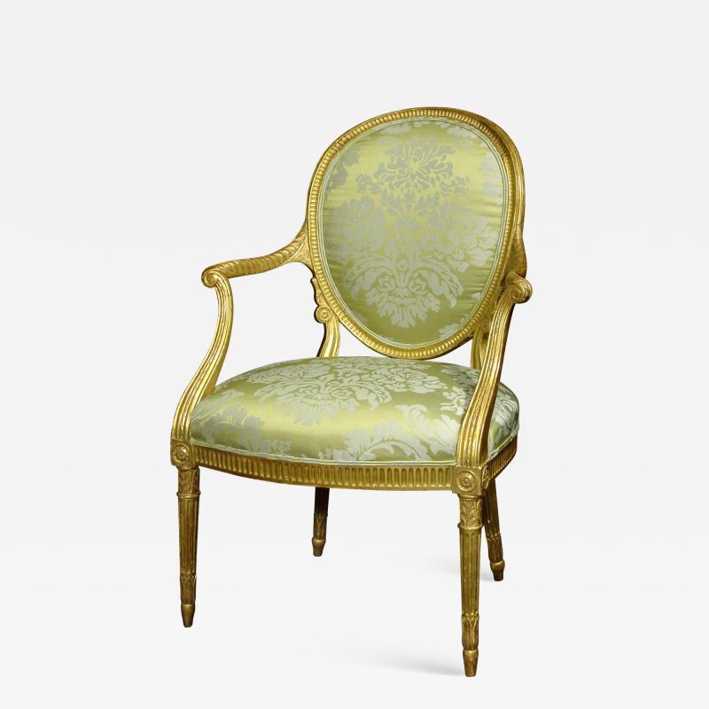 A Fine George III Giltwood Armchair