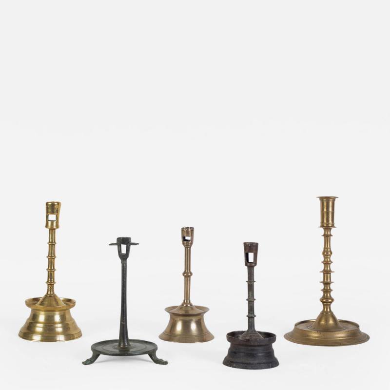 A Fine Group Of 15th And 16th C Candlesticks