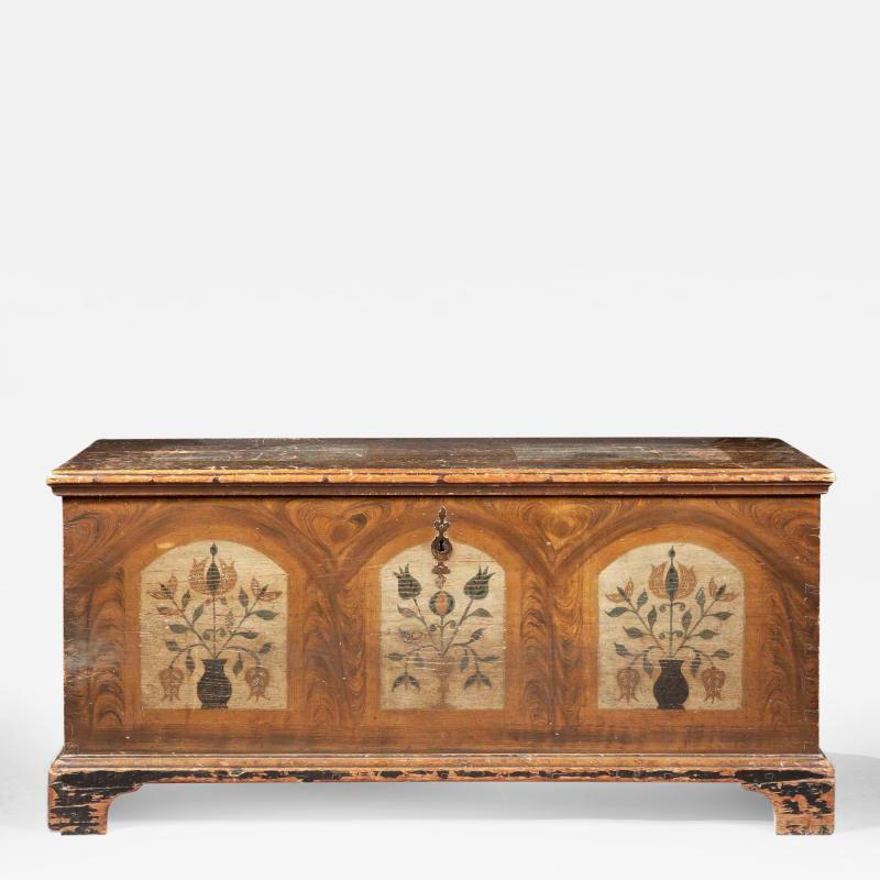 A Fine Painted Dower Chest