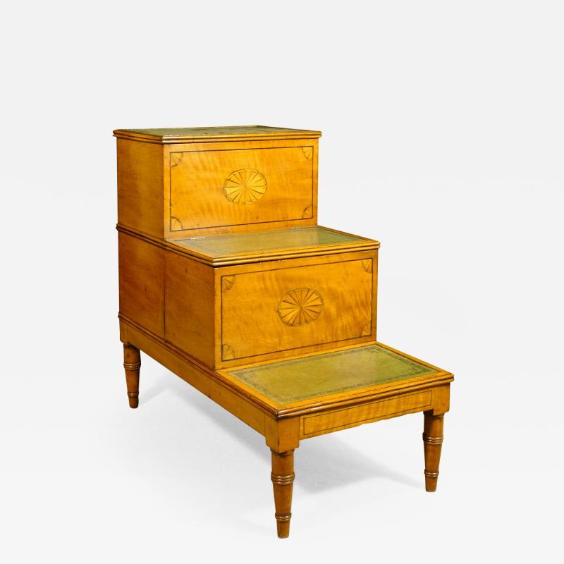A Fine Set of George III Satinwood Bedsteps