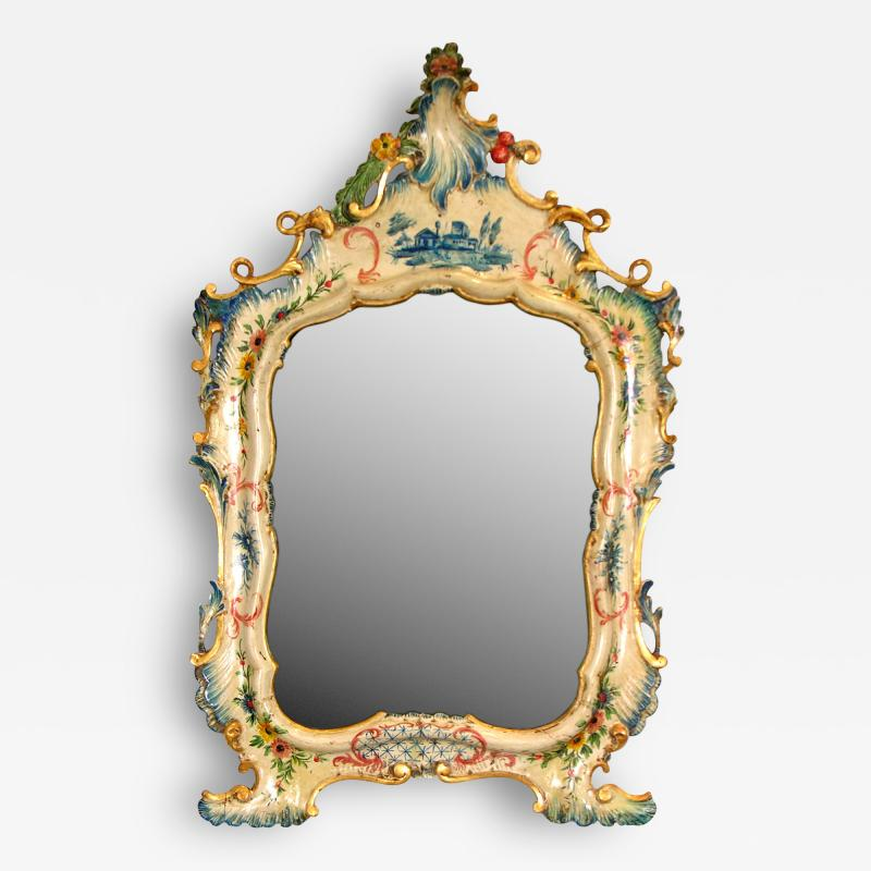 A Fine Venetian Lacquered Toilette or Dressing Table Mirror