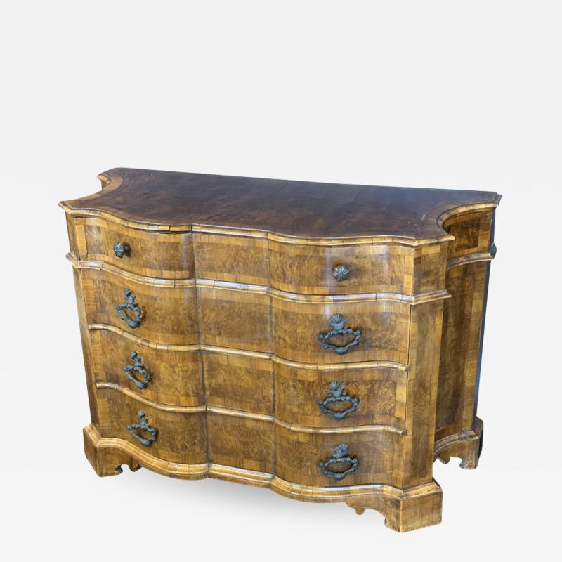 A Fine Venetian Olivewood Bronze Mounted 4 Drawer Commode Italy Mid 18th C
