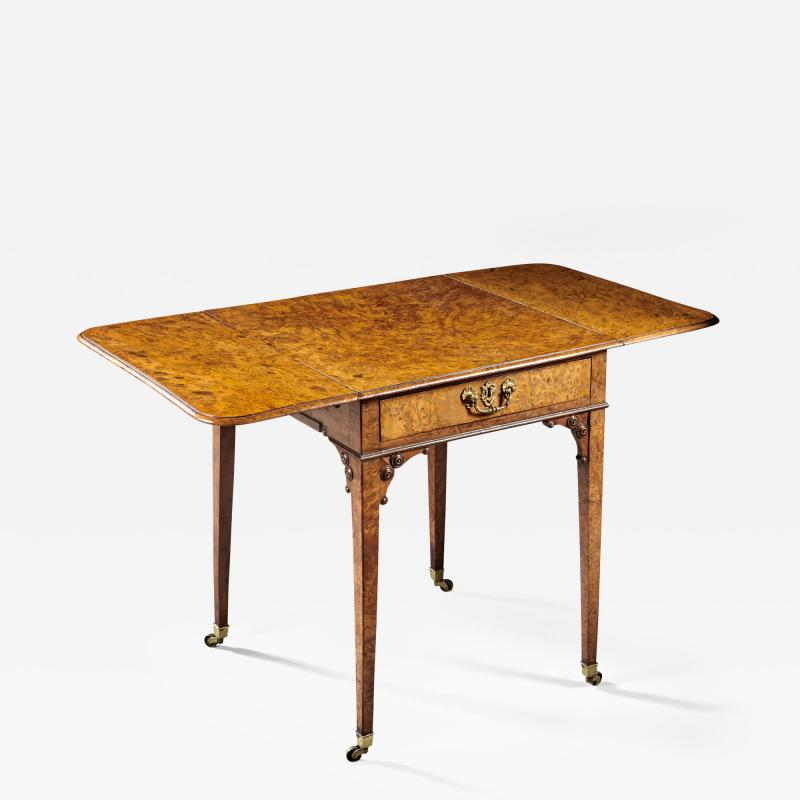 A Fine and Unusual Burl Elm Georgian Pembroke Table