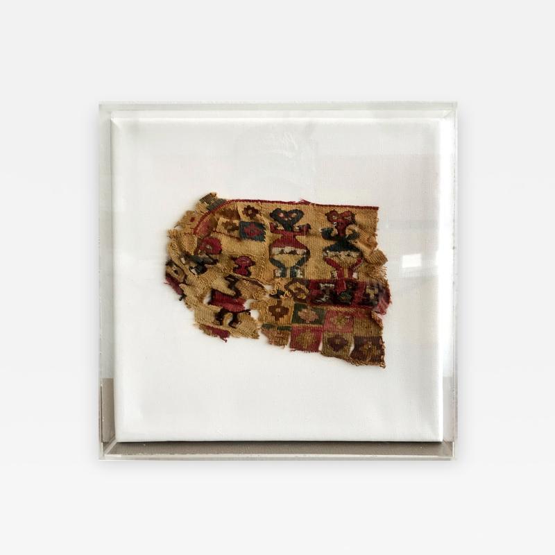 A Framed Pre Columbian Antique Textile