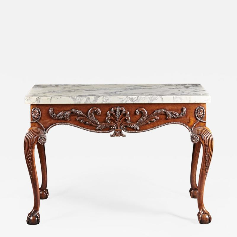 A George II George III Carved Mahogany Marble Top Console