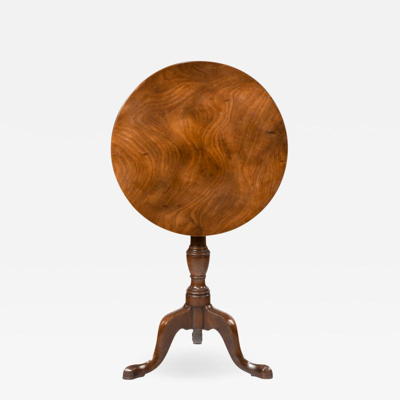A George III Mahogany Tilt Top Occasional Table