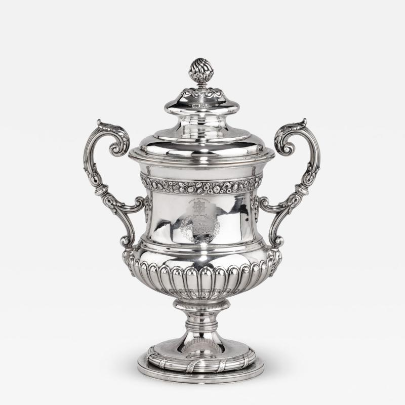 A George III antique silver Battle of Waterloo Commemorative cup and cover