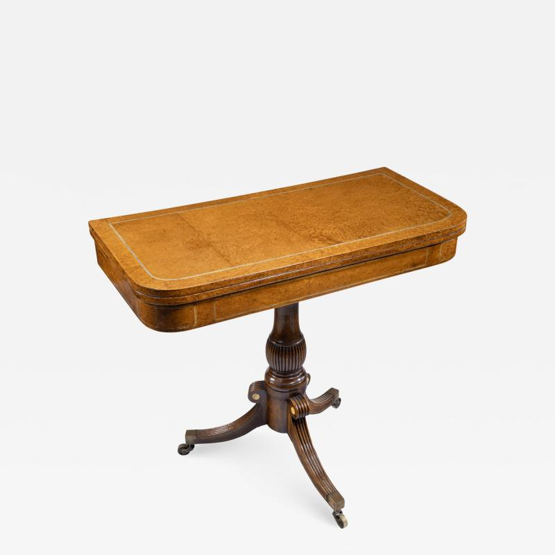 A George IV Anglo Chinese amboyna card table