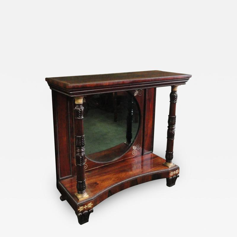 A George IV Rosewood Console Table