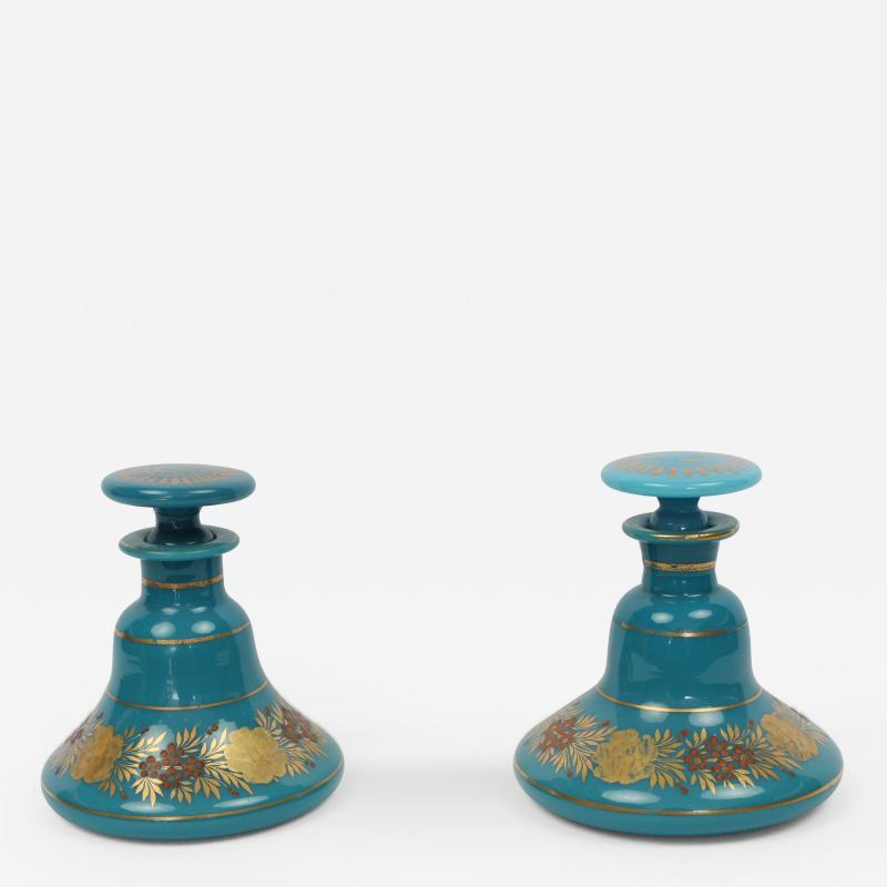 A Good Pair of Empire Opaline Scent Bottles