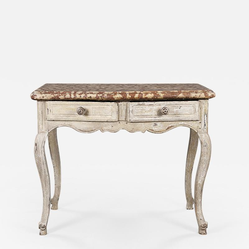 A Marble Topped Side Table