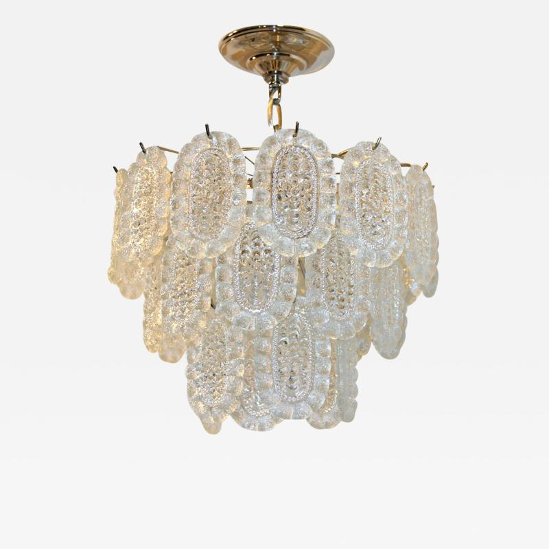 A Midcentury Molded Glass Chandelier
