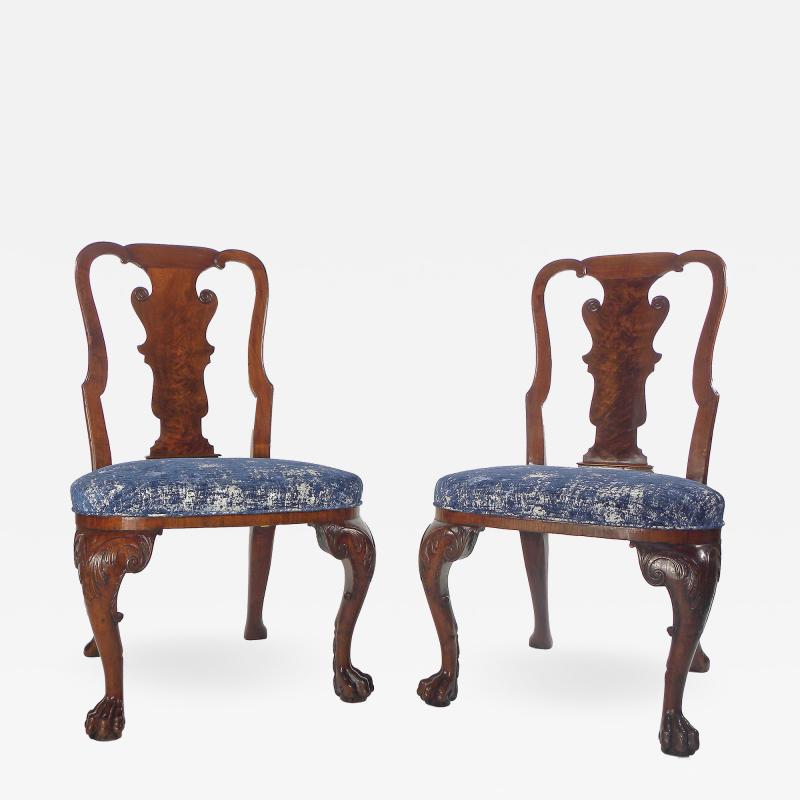 A Pair of American Walnut Side Chairs