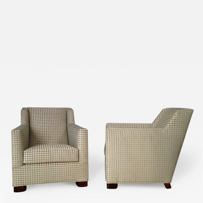 A Pair of Art Deco Club Chairs by Dim