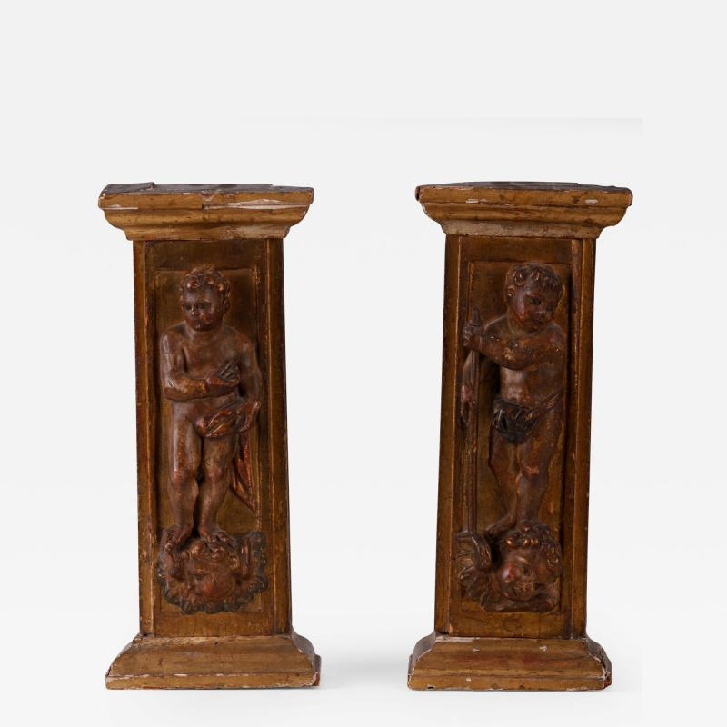 A Pair of Late Renaissance Tabernacle Pilasters Spanish 16th C