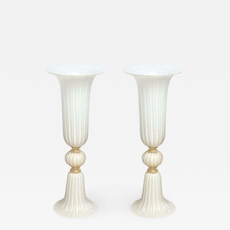 A Pair of Murano Glass Floor Vases