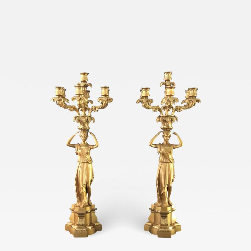 A Pair of Regency Candelabra