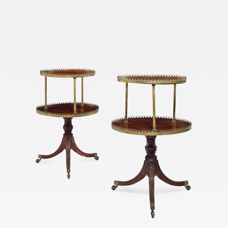 A Pair of Regency Style Mahogany Dumbwaiters