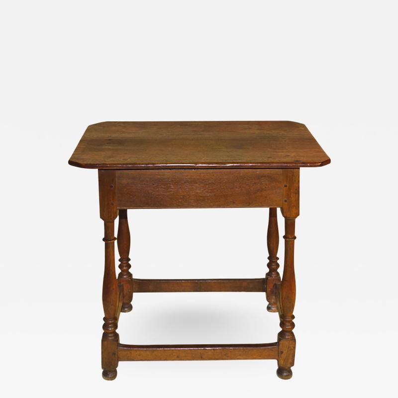 A Pennsylvania walnut stretcher base table
