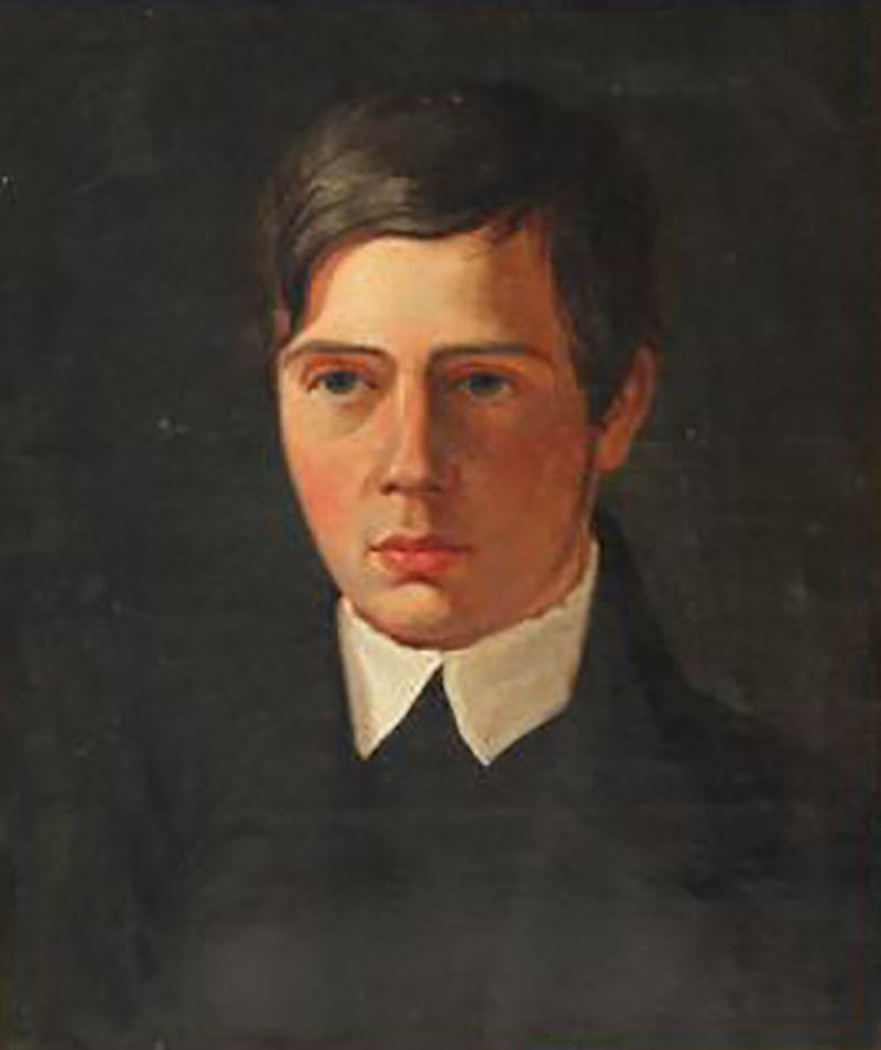 A Portrait of a Young Man Danish School Late 19th Century