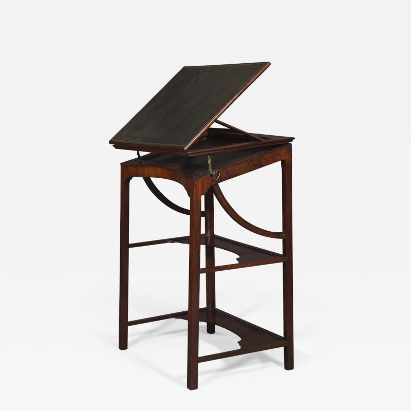 A Rare Early George III Mahogany Double Ratcheted Reading Cum Drawing Table
