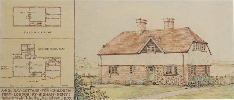 A Rare Group Of Five Perspective Drawings Designed By Robert Weir Schultz